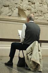 Drawing the Elgin Marbles (iparky) Tags: london bloomsbury britishmuseum elginmarbles
