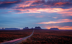 Highway 163 (davecurry8) Tags: road sunset arizona gump navajo monumentvalley highway163