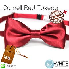 Cornell Red Tuxedo - หูกระต่าย สีแดงเข้ม เนื้อผ้าผิวมัน เรียบ เกรต A