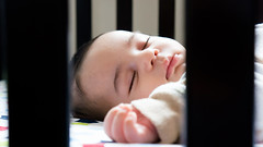 peaceful sleep (AAB_BAA) Tags: light baby eye beauty face relax nice hand sleep peaceful sleepy beb eyebrow crib inocent bebek    eyeb