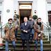 Mauricio Macri acompañó a un grupo musical argentino para grabar en Londres
