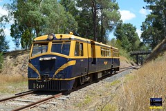 22RM with a Healesville bound pass at Donovans Rd bridge. Yarra Valley Railway. 4/1/15 (Dobpics O'Brien) Tags: railroad alley victorian rail railway healesville victoria walker yarra yvr railways vr 22rm