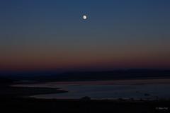 Moon Over Mono Lake (San Francisco Gal) Tags: blue sunset moon lake water bluehour monolake tufa easternsierra