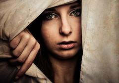 De papier et de larmes (Christine Lebrasseur) Tags: portrait people woman brown france art texture canon sadness hand veil attack hidden teenager hommage fr gironde lane charliehebdo attentat saintloubes allrightsreservedchristinelebrasseur