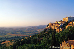Todi 3 (clodio61) Tags: city trees sunset summer italy landscape evening town italian ancient cityscape view hill historic fields typical perugia umbria todi characteristic