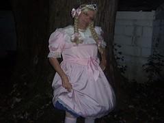 Pink Sissy Princess (Petticoat Brenda) Tags: pink panties ruffles pretty princess girly sissy showoff partydress petticoats sissydress hotpinkpanties