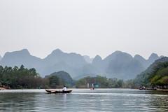 River Ride - Perfume Pagoda, Vietnam (S.T.Chang) Tags: sky woman white mountain plant tree nature water rural canon river eos boat asia southeastasia village hill row vietnam rowing perfumepagoda 6d hni