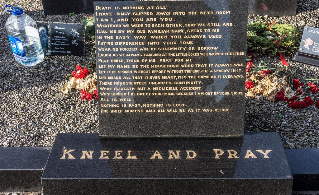 KNEEL DOWN PRAY IN GLASNEVIN CEMETERY REF-101215