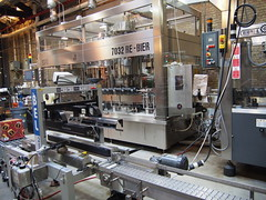 The package machines inside the brewery.