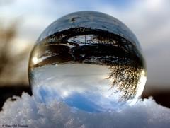 sheffield snow 2014 crystal ball views (Simon Dell Photography) Tags: uk england white snow art ice ball crystal sheffield awsome sphere views 60mm orbs 2014 hackenthorpe