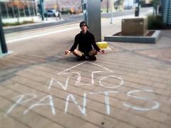 Zen Pants (Moriartys) Tags: man phoenix outdoors chalk sitting legs sidewalk zen meditating nopants nopantsaz npsr nopantsphx