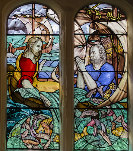 Stained glass window, St Peter's church, Ightham