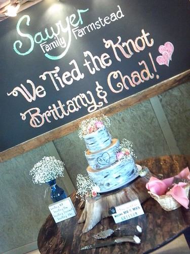 """A rustic birch inspired wedding cake. • <a style=""""font-size:0.8em;"""" href=""""http://www.flickr.com/photos/50891271@N03/16160540370/"""" target=""""_blank"""">View on Flickr</a>"""