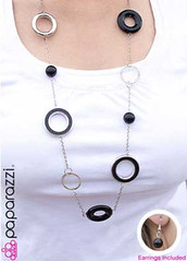 5th Avenue Black Necklace K3 P2130A-5