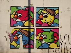 "Lyon - ""Birdy Kids"" (corno.fulgur75) Tags: streetart france painting frankreich lyon lione murals frança rhône frankrijk francia francie frankrig lyons frankrike rhônealpes francja birdykids december2014"