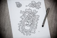 bacteria (pajus79) Tags: world life light shadow bw white black art sign japan illustration contrast pen work paper design sketch graphics nikon paint artist pattern symbol drawing line doodle ornament fantasy shade micro sakura draw bacteria colony micron microorganism pigma d80 grapgic