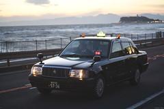 134   National Route 134Kamakura (Iyhon Chiu) Tags: sunset car japan dusk kamakura cab taxi toyota d750  comfort    shounan  2014       route134   134