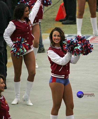 Redskinette Cheerleaders Maigan and Jade.