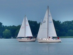 Sailboats (CCphotoworks) Tags: ontario water weather sailing cloudy lakes sailboats waterways overcastsky presquillebay northumberlandcountyontario