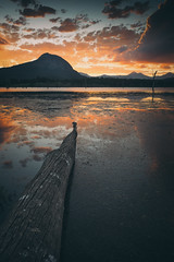 Sticks & Stones (james_lovas) Tags: sunset mountain lake water clouds canon landscape photography moody sony brisbane filter lee 1740 moogerah a7r