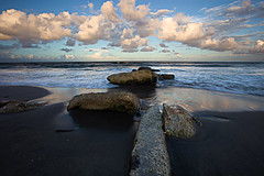 Keep on Walkin' (GRO Photography) Tags: ocean sunset sea seascape beach water landscape evening rocks jetty shore