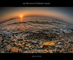 At the end of distant waves (Nikos O'Nick) Tags: sunset sea summer sun island nikon waves tripod aegean hellas nikos fisheye greece hdr manfrotto distant 9mm ηλιοβασίλεμα limnos lemnos samyang κύματα καλοκαίρι θάλασσα νησί νερό αιγαίο onick 055xprob d300s λήμνοσ άγιοσ χαράλαμποσ νικόλαοσ νίκοσ kotanidis κοτανίδησ 492rc2 μακρινά