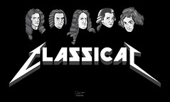 Heavy Classical (Mr. Sid) Tags: white black rock metal illustration hard beethoven bach metallica classical heavy mozart vector engraved handel vivaldi