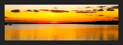 At the end of the day (Thank you for 4M+ views.) Tags: sunset sea panorama reflection water clouds dusk dorset