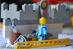 Where is my stuff? (tobiaspriwall) Tags: castle yellow fence stand still nikon day lego time bank sword knight tobias hold markise priwall minifigures brrick d5200 tobiaspriwall