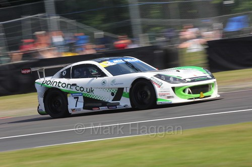 Callum Pointon in the Ginetta GT4 Supercup during the BTCC at Oulton Park, June 2016