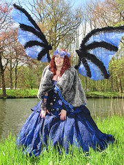 Elfia 2016 - impressions (Mattijsje) Tags: blue holland netherlands beauty festival de elfs wings character fair elf fantasy laugh lovely haarzuilens kasteel beaut haar 2016 karakters elfia