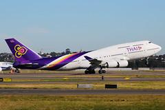Thai Airways Boeing 747-4D7 HS-TGB (Mark Harris photography) Tags: plane canon aircraft aviation spotting yssy