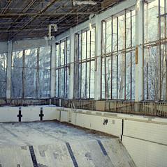 (auspices) Tags: abandoned pool swimming ukraine hasselblad 400 medium format portra chernobyl pripyat