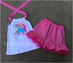 princess 2 (Lil' Bug Clothing) Tags: outfit princess skirt disney tulle halter
