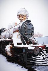 Frich 409 locomotive (Sameli) Tags: old winter snow train suomi finland helsinki rust decay engine rusty trains steam engines rusted locomotive decayed 1949 locomotives 409 1163 tk3 frich tk31163