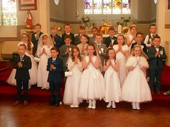Students of Second Class at Scoil Mhuire who celebrating recieving the Sacrement of First Holy Communion on Saturday 14 May (ballymorebugle) Tags: ballymorebugleballymoreeustace kildare ireland