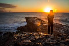 Summer of 6.. er 96. (Anscheinend) Tags: ocean sunset sea summer orange sun beach spain rocks sonnenuntergang fuerteventura wanderlust espana longing spanien lapared canarianislands
