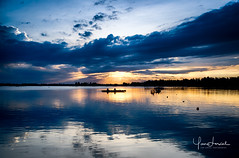 YL1D10003 (Yan Lerval) Tags: sunset sun water river clouds reflections cloudscape hdr vietnam hoi an