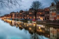when night falls (karinavera) Tags: street city longexposure travel amsterdam night lights canals nikond5300