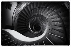 Abyss (michael_hamburg69) Tags: bw stairs germany deutschland mono stair steps stairwell stairway escalera scala sw 50s bremen monochrom escalier rampa treppenhaus escala wendeltreppe 195455 fruchthof  photowalkmitankeknipst breitenweg2933
