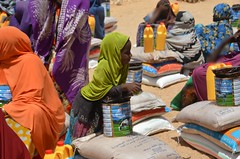 A young girl during food distributions in Puntland (Ummah Welfare Trust) Tags: poverty children hope desert islam happiness aid hunger drought humanitarian somalia somaliland puntland humanitarianism poveerty