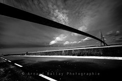 Pont de Normandie (http://arnaudballay.wix.com/photographie) Tags: 2016 d610 avril nikon honfleur normandie france fr pont bridge pontdenormandie calvados longexposure poselongue road contrast blackandwhite ndfilter nisifilter leefilter bigstopper nd1000 sea water channel seineriver seine riviere paris francia gallia frankreich travel vacation voyage filter poselente slow gndfilter filtreneutre nd110 contemplation contemplative