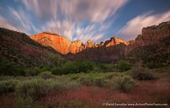 Cloud Movement (David Swindler (ActionPhotoTours.com)) Tags: longexposure clouds sunrise utah movement zion zionnationalpark towersofthevirgin