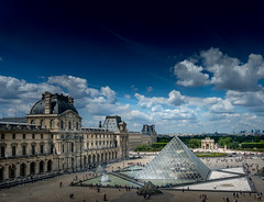 View from the Louvre (Delfried) Tags: france sky louvre paris pyramide