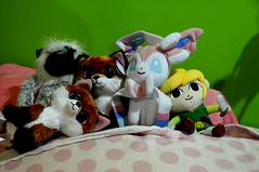 My Stuffed Friends (dvanmoerkerque) Tags: pokemon zelda link fox ty monkey stuffed animals