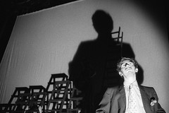 Noi non siamo barbari! (Wir sind keine Barbaren!) (Federico Pitto) Tags: blackandwhite bw monochrome theatre trix hp5 pushprocess ilforddelta3200 nikonfe2 nikkor50mm14 microphen nikkor35mm28 teatrostabilegenova