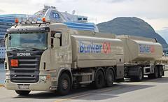 SCANIA - BUNKER OIL Alesund Norway (scotrailm 63A) Tags: norway trucks tankers lorries