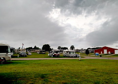 Rally Grounds, Forest City, Iowa (RV Bob) Tags: forestcity iowa winnebago rally rallygrounds motorhome rv gimp weather clouds