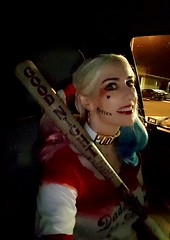 Have bat, will travel! (HarleyCyn) Tags: harleyquinn harleycyn dccomics suicidesquad bootyshorts hotpants bat movie warnerbros wb sexy woman girl baseball