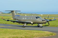 M-YAKW Pilatus PC12 EGNS 15/8/16 (David K- IOM Pics) Tags: m manx reg myakw pc12 pilatus egns ronaldsway iom isleofman isle man airport